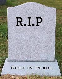 "Gravestone saying ""Rest in Peace"""