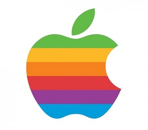 Old Apple Rainbow Logo