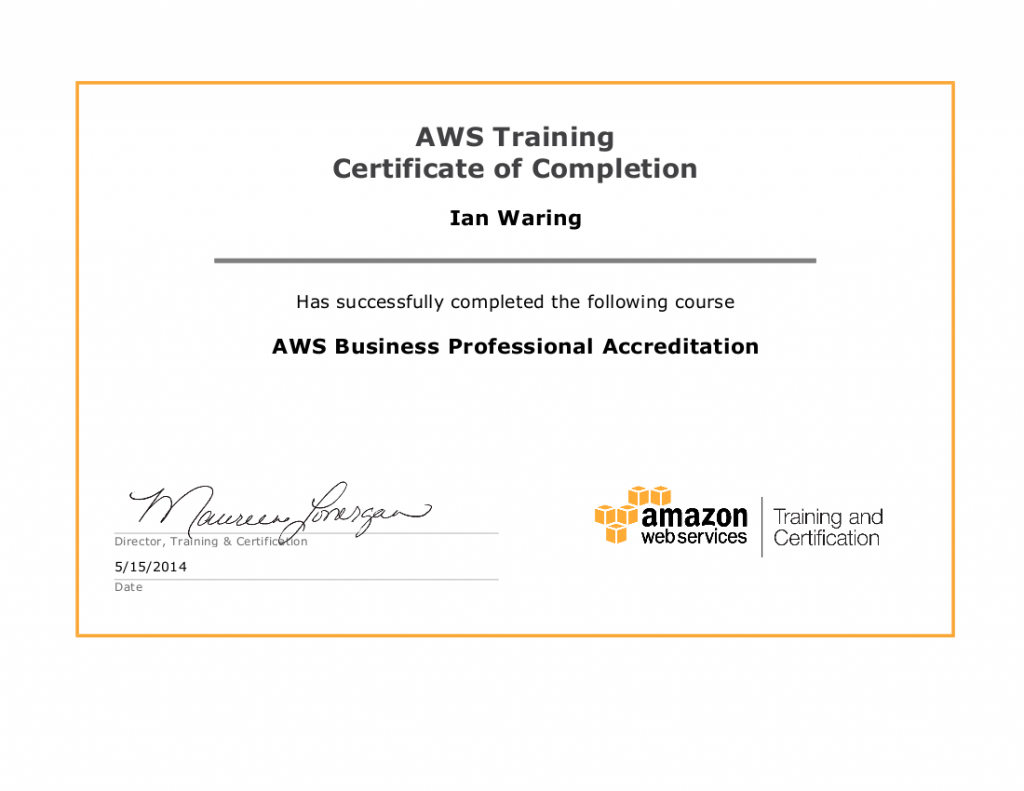 AWS Business Professional Certification