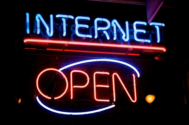 Internet Open Sign