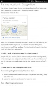 "Google Now ""Where did I Park my Car?"" Card"